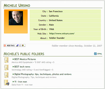 foldier user profile