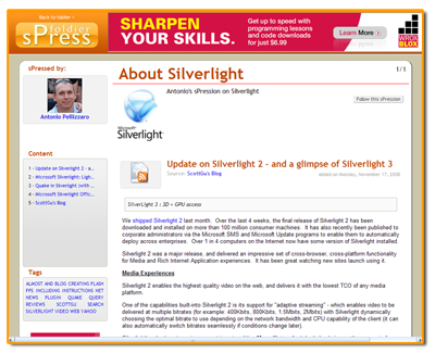 Silverlight by Antonio Pellizzaro
