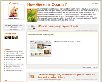 How Green is Obama ?